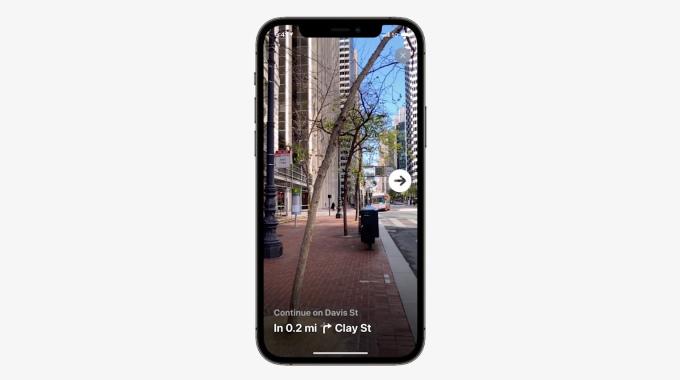 Apple's version of AR for Maps, courtesy TechCrunch  Apple
