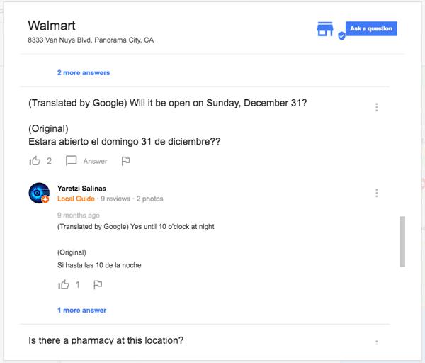Google Q&A