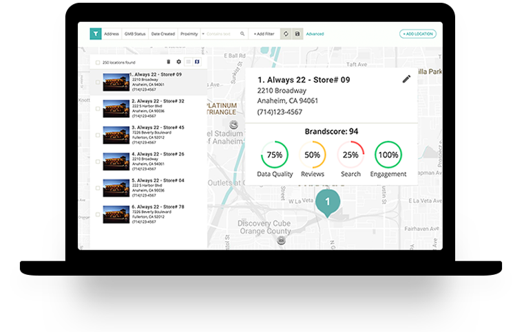 Granular location based insights at the corporate and individual location levels.