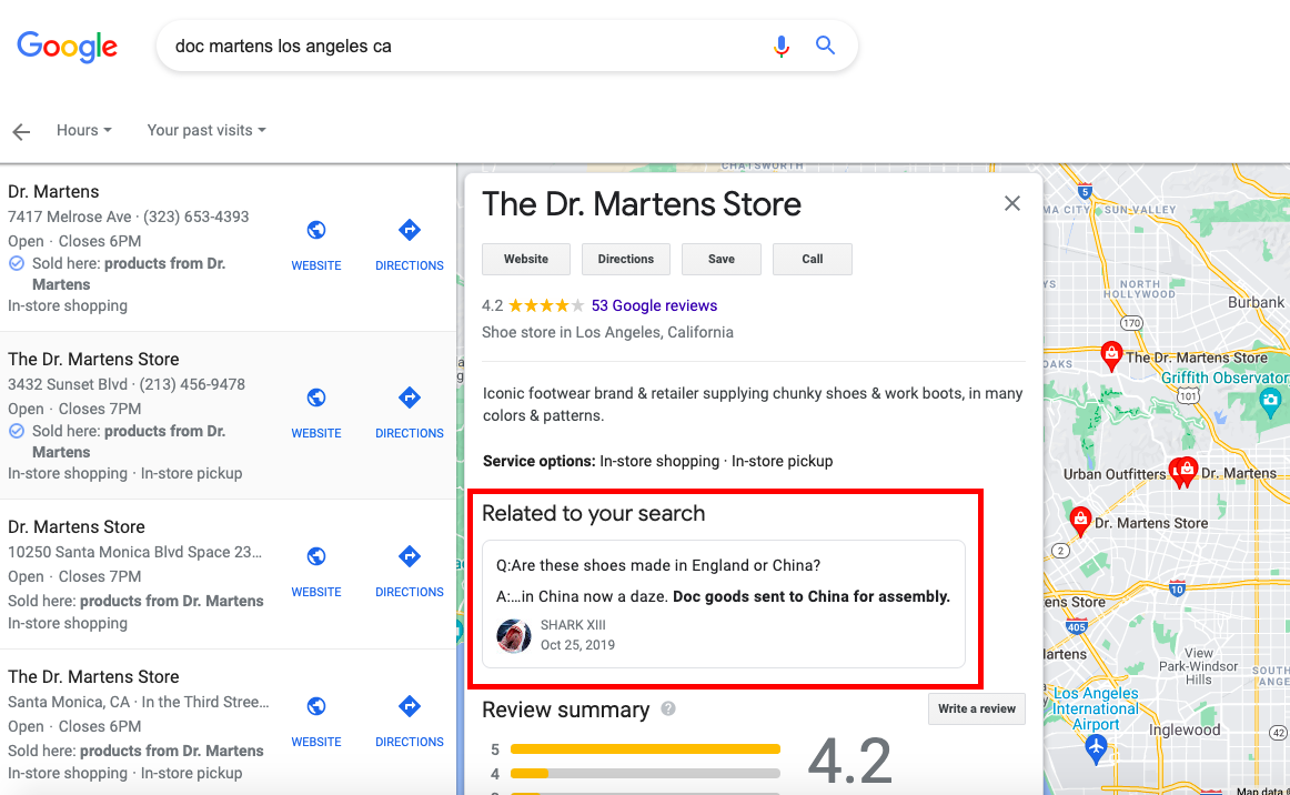 Example listing related to your search