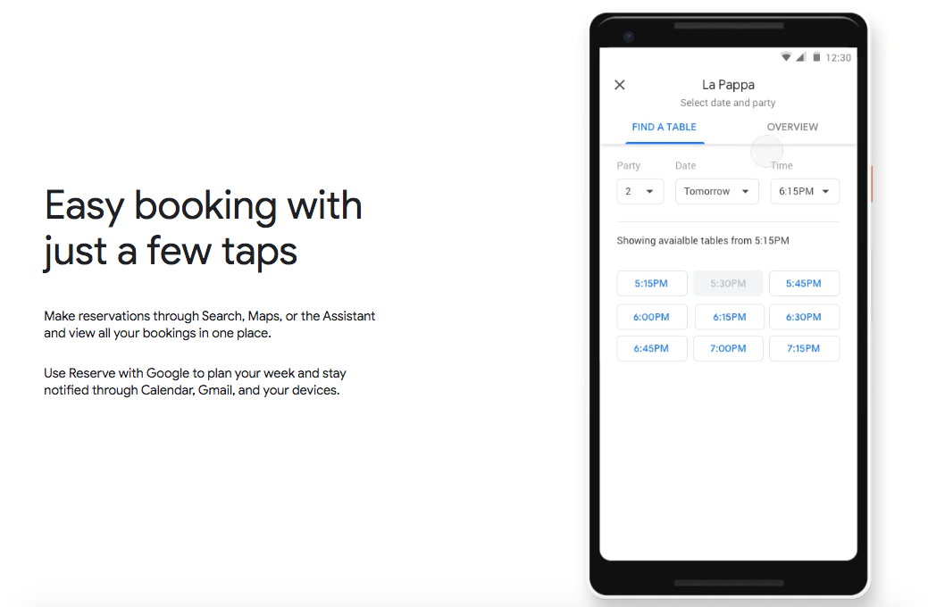 Appointment Booking on Google Listing