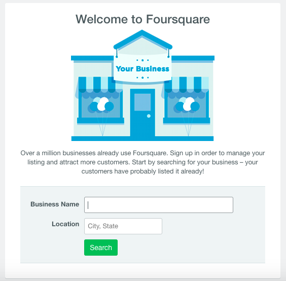 Claim Your Listing on Foursquare